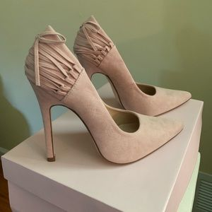 NEW JustFab Blush Pumps! ONLY WORN ONCE!